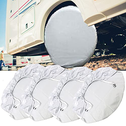 Cubierta para neumáticos, 4 fundas XL para ruedas de caravana y remolque.