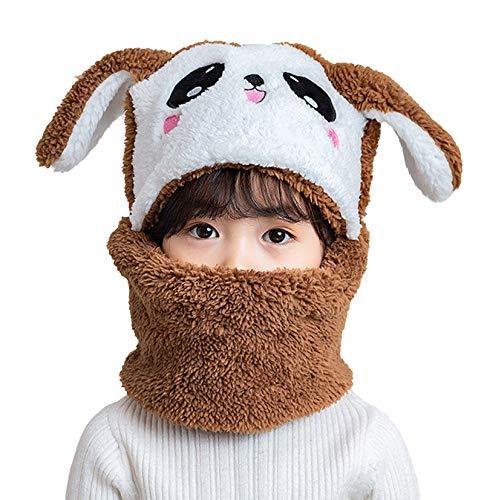 Gorro de Animal Invierno Bebe Niño Niña Conjunto Sombrero y Bufanda Lana Pasamontañas Infantil Gorras Beanie Cuello Calentador Invierno Otoño Baby Hats para 5 a 10 años