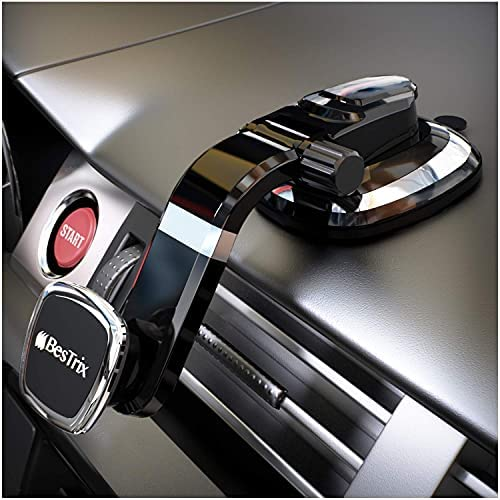 BESTRIX Magnetic Phone Car Mount Magnetic Car Cell Phone Holder Magnet Car Phone Holder Compatible iPhone 12 11 Pro Max/XS/XR/X/SE/8/7 Samsung Galaxy S20/S10/S9 & All Smartphones (Dashboard)