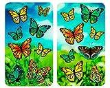 WENKO Cubiertas de cocina universal con mariposas «Schmetterlinge», juego...
