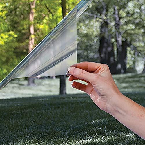 Lorenory isolatiefolie voor ramen, parasol, glas, reflecterend, unidirectioneel, voor balkon, keuken, parasol, vinyl