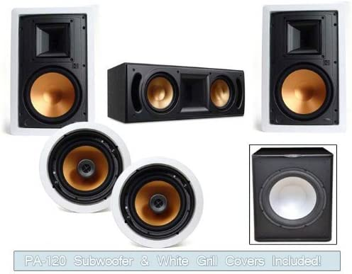 New life Klipsch R-3650-W In Wall RC-52II SUB System Center-FREE Miami Mall