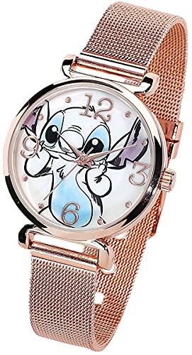 Lilo and Stitch Stitch Frauen Armbanduhren goldfarben Siehe Beschreibungstext Disney, Fan-Merch, Filme