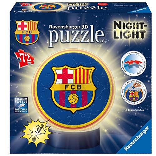 Ravensburger - Puzzle 3D Barcelona FC, luz de noche (11166)