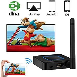 WiFi Display Dongle, Weton 5G&2.4G Wireless HDMI Dongle Mini WLAN Display Receiver Wireless 1080P HDTV Screen Mirroring Dongle Wireless Video Adapter Support Airplay DLNA Miracast for IOS Android phones/Windows/Mac