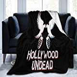 Hollywood Undead Blankets Ultra-Soft Micro Fleece Blanket Super Soft Light Weight Throw Blanket Quilt for Bed Couch Sofa 80'X60'