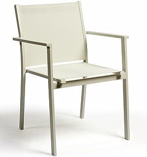 Bibeca Silla Blanca para jardín de Aluminio