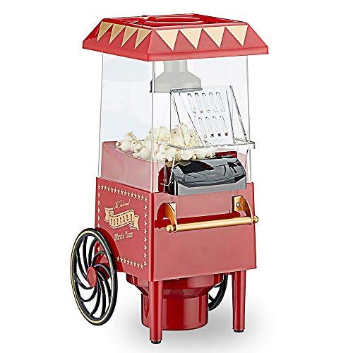 Popcorn - Macchina per popcorn retrò con aria calda, senza olio, senza grassi