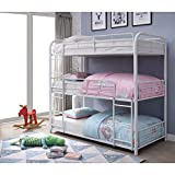 ACME Furniture Cairo Triple Twin Bunk Bed, White