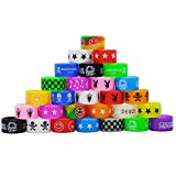 12 PCS Mixed Color Silicone Anti Slip Rubber Rings, 22mm Mixed Rings, Random Design and Color