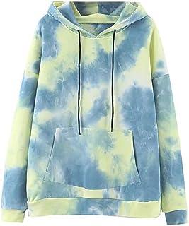 Sponsored Ad - CALLA DREAM Hoodies for Women Cute Tie Dye Long Sleeve Fashion Sweatshirts Women's Pullover Girls Hoodies