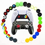30pcs Joystick Grip for Ps5 Ps4 Controller, Silicone Thumb Grips Caps Cover Analog Stick for Playstation 5, Playstation 4 Controller, Xbox 360, Xbox One Controller (B)