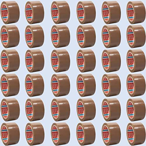 tesa 64014 Klebeband Paketklebeband Packband 66m x 50mm (36 Rollen, Braun)