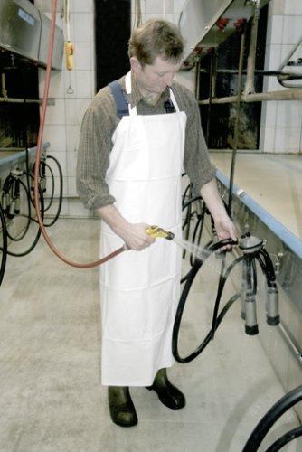 Kerbl Waschschürze, Landwirtschaft Haus Hof wasserundurchlässig, Weiß 120x80
