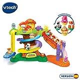 VTech-La cabaña del árbol Zoomizooz Playset Interactivo para Jugar con los Animalitos + 4 Animales, Multicolor, Talla Única (3480-510922)