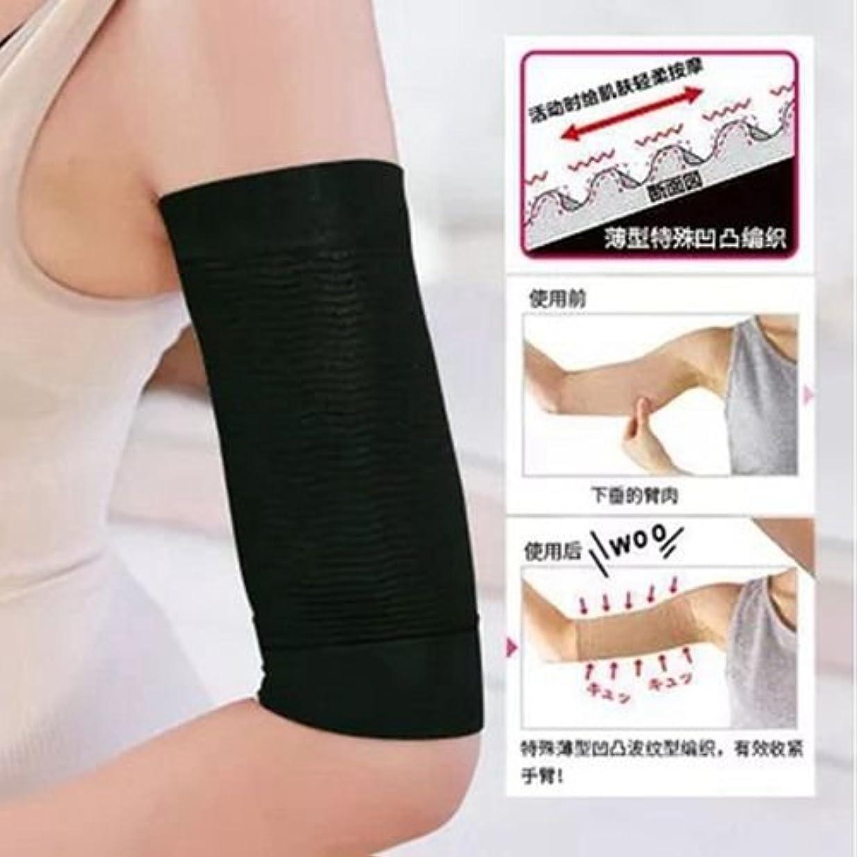 カブバッテリーエンターテインメントThreeCat ダイエット 腕2枚組 420D マッサージ 脂肪燃焼 バストアップレディース 女性 二の腕シェイパー size 20~30cm (ベージュ)