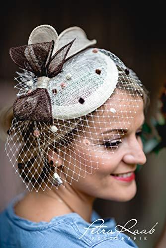 M59 Fascinator Headpieces mini Hütchen Royal hat Hut Ballhut Victoria Derby Kentucky Derby couture Millinery Hochzeit