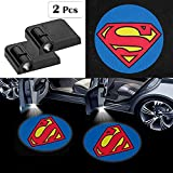 Fit for Superman Car Door Lights Logo Projector,2 Pcs Superman Led Laser Door Shadow Light Welcome Projector Lamp,Fit for All Brands of Cars - No Drilling Required