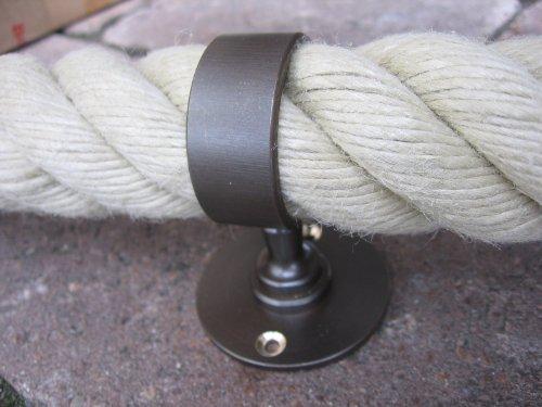 Porte-câble bronze pour corde de 40 mm