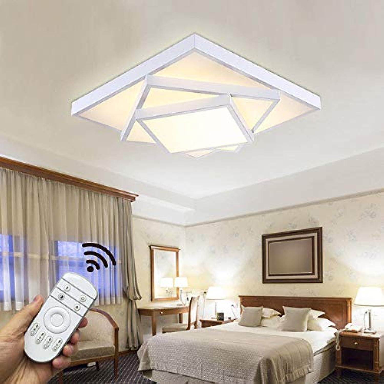 30W LED Deckenleuchte Deckenlampe dimmbar mit Fernbedienung Küchelampe Beleuchtung für Wohnzimmer Schlafzimmer Kinderzimmer HS6906F-30W-Weiss