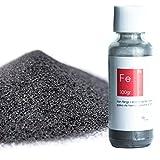 100 g Polvo de hierro de calidad superior [Paquete resellable incluido] - polvo de hierro para las ciencias y la enseñanza - Cree una pared magnética mezclando con pintura