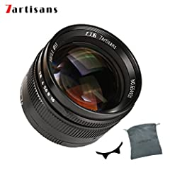 7artisans 50mm F/1.1 Prime Fixed Lens. Manual Focus,Lens Construction: 7 elements in 6 groups Portable Aluminum Mount: Aluminum-made body and copper bayonet designed,lightweight and portable. High Quality Producing Requirements: It was optimized for ...
