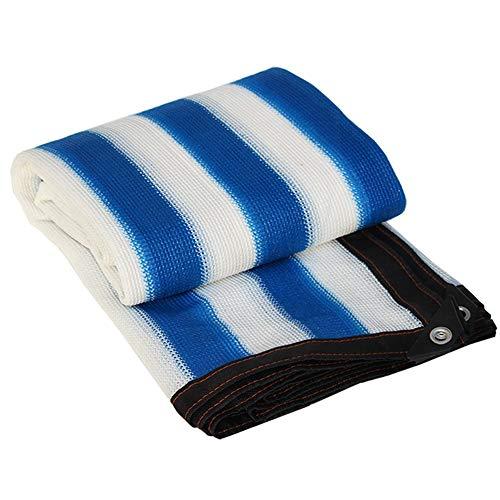 GFBHD Sonnenschutznetz Schattiernetz Gartenlauben Blau-weiß Gestreifte Schatten Net |90% Anti-Segel Schatten Tuch for Außenpool Shade Im Gewächshaus (Color : A, Size : 2x4m)