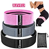 Ekezon Resistance Bands for Legs and Butt, 3 Levels Elastic Workout Bands Non-Slip Elastic Band...