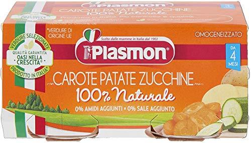 6x PLASMON Omogeneizzato Carote Patate e Zucchine homogenisiert Karotten Kartoffeln und Zucchini Gemüse ab 4 Monaten Babynahrung 2x80g