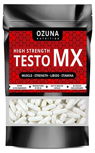 Test Booster for Men | Testosterone Support Supplement with Tribulus Terrestris, Maca Root & Ashwagandha | 60 Capsules