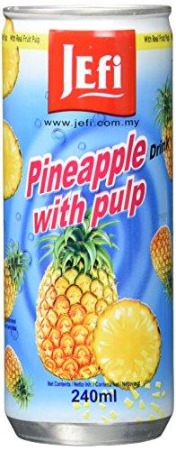 Jefi Drinks Ananas mit Fruchtfleisch Ds, 15er Pack (15 x 240 g)