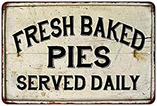 Fresh Baked Pies Vintage Look Chic Distressed 8 x 12 High Gloss Metal 208120020085