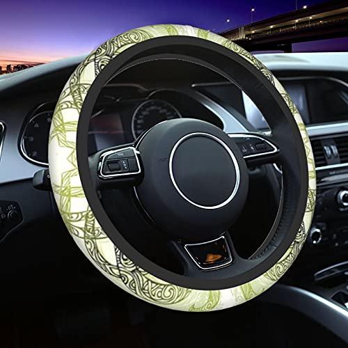 Spinning Mandala Stock Steering Wheel Cover-Protector Antideslizante para Ruedas de Coche-Traje Universal de 15 Pulgadas para Coches,Camiones,SUV,remolques