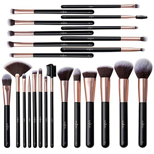 Anjou Makeup Brushes, 24pcs Makeup Brushes Set Premium Cosmetic Brushes Concealer Brushes Foundation Blending Blush Eye Shadow Powder Lip Brush...
