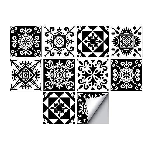 Andiker 20 STK Fliesenaufkleber Selbstklebende 15x15 cm wasserdicht, Fliesenfolie für Küche, Badezimmer, Fliesen Backsplash für Heimdekoration, dekorative marokkanische Fliesensticker (20)