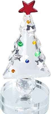 HANUR Crystal Christmas Tree Figurine Collection Dreams Ornament Home Decoration Collection Rainbow Refraction