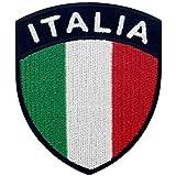 EmbTao Italia Schild Flagge Bestickter Aufnäher zum Aufbügeln/Annähen