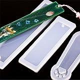Yesiidor - Molde Rectangular de Silicona para marcapáginas y Manualidades, Diseño de Resina epoxi, Transparente, Silicona para Uso alimenticio, Short, As Description