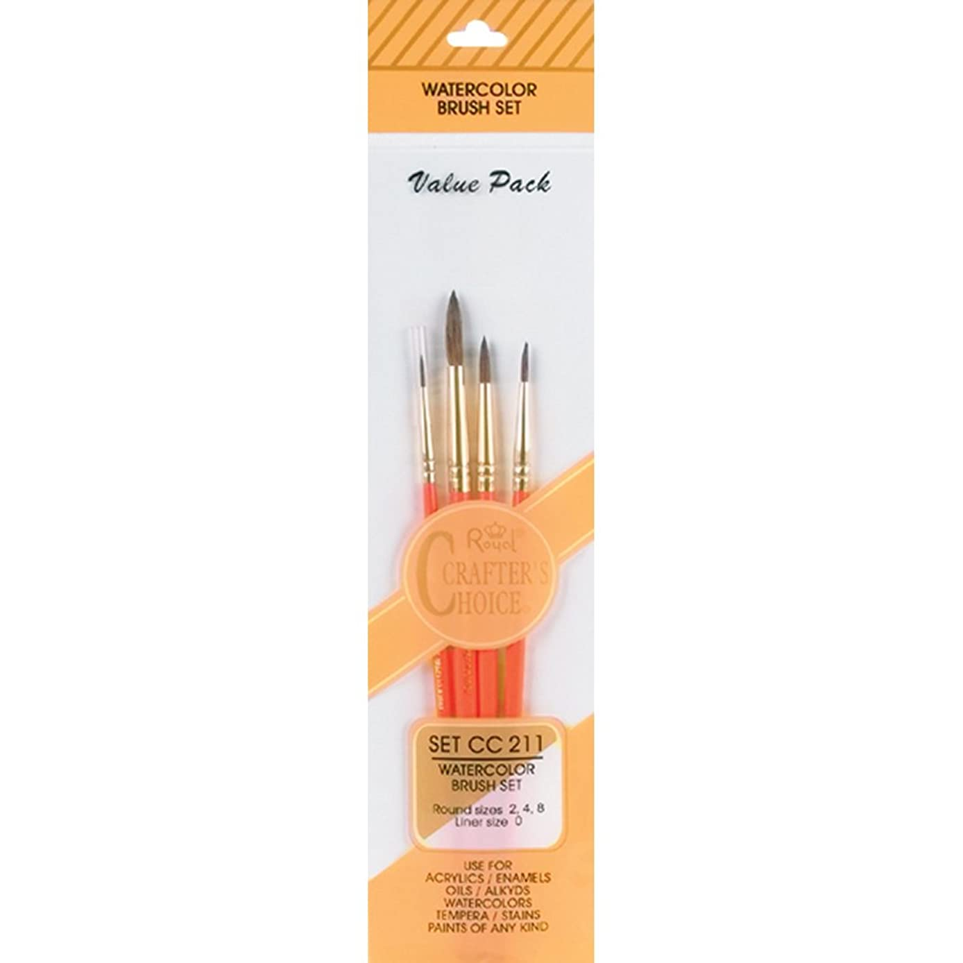 Royal Langnickel Crafter's Choice Watercolor Brush Set 4/Pkg