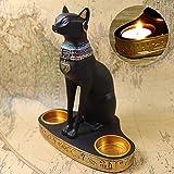 Maliyaw Ornamento de la Resina del Gato Egipcio de la Resina innovadora del Gato del Estilo Europeo para la Oficina del Estudio de la Sala de Estar de la decoración, 600g
