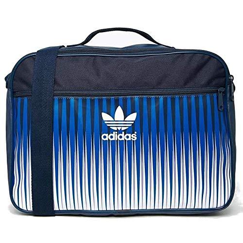 Adidas Airliner Borsa a tracolla in Mezcla Design, Blu e bianco