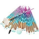 MAANGE 20 Unids Mujeres Maquillaje Pinceles Set Multicolor Polvo Fundación Pincel Sombra De Ojos Delineador De Ojos Maquillaje Pinceles Pincel Maquiagem (Handle Color : B)
