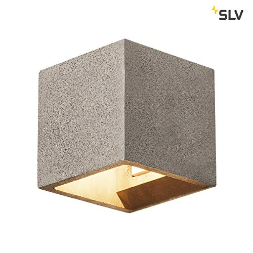 SLV Solid Cube Applique Inox 304 Gris Grès Noir