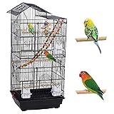 Yaheetech Cage à Oiseaux avec Jouets Poignée Cage pour Perruche Calopsitte...