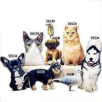 オーダーメイドペット写真クッション 3Dクッション メモリアルグッズ カスタマイズオリジナル名入れ いぬねこペット 記念品 プレゼント (60cm)