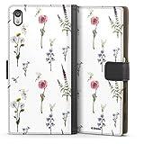 DeinDesign Étui Compatible avec Sony Xperia Z5 Premium Étui Folio Étui magnétique Fleurs Produit...