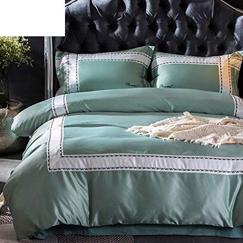 Nordischen königlichen Silk Baumwolle Bettbezug, 4 teiliges set Quilt cover * 1 Sofitel blätter *...