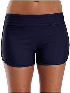 Women Summer Bikini Bottoms, Ladies Solid Tankini Shorts Swimwear Beach Swims Short Pant