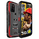 CONQUEST:S20 Rugged Smartphone, ATEX Zone1/2 Intrinsically Safe Explosion-Proof Global 5G Unlocked Phone 8000mAh Infrared Night Vision Triple Camera,Android 11 Octa Core Fingerprint,Dual SIM,NFC,GSM