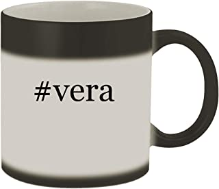 #vera - Ceramic Hashtag Matte Black Color Changing Mug, Matte Black